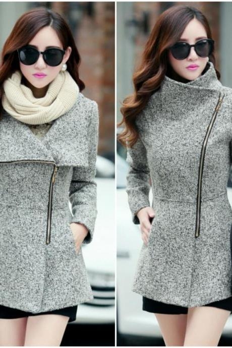 Light Grey Woolen Winter Coat QLU9VE267PFYFZDP8W3GN 1XVHBM8TLYR